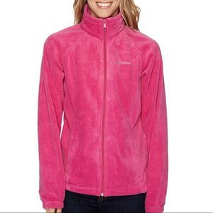 COLUMBIA Pink Fleece Benton Springs Jacket 317
